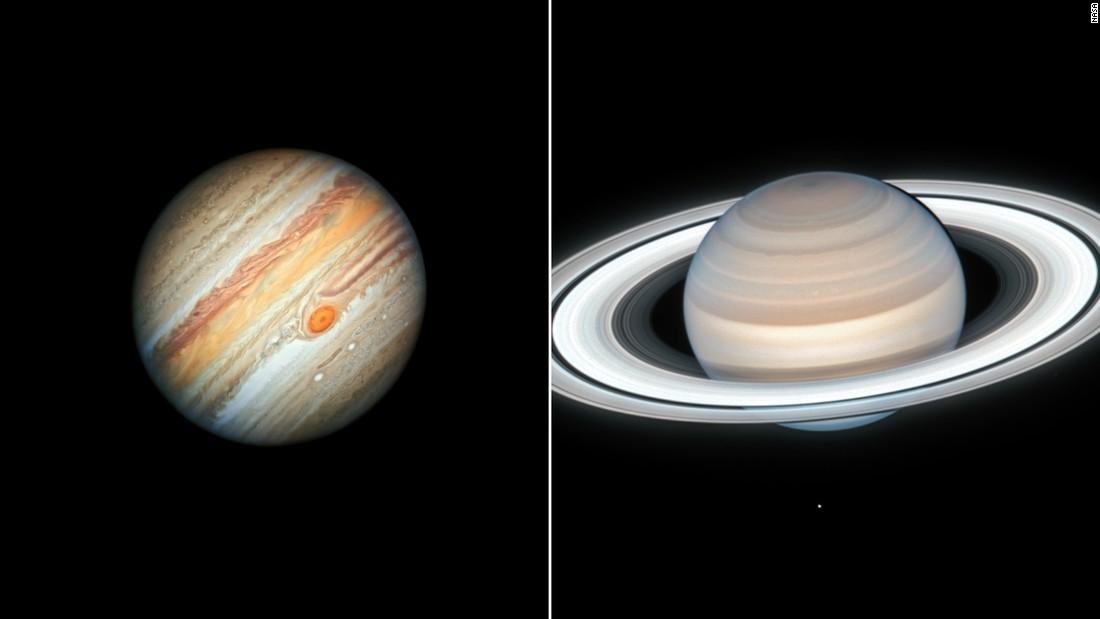 Justo a tiempo para Navidad, Júpiter y Saturno se acercarán más que desde la Edad Media