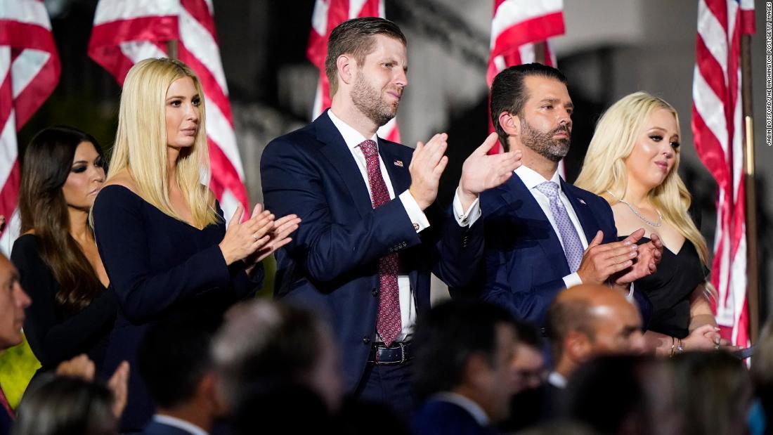 Planeando el futuro: los hijos de Trump buscarían beneficiarse del legado caído de su padre