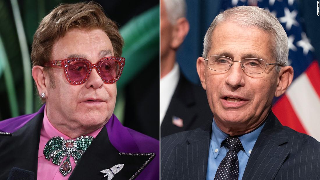 Elton John honra a Anthony Fauci en el Día Mundial del sida