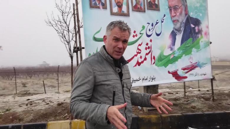 CNN obtuvo acceso al sitio exacto del asesinato de Fakhrizadeh