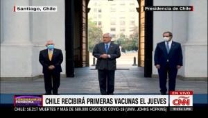 Piñera anuncia el arribo de vacunas a Chile este jueves