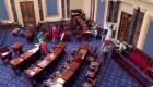 Momento en que agitadores entran al Senado