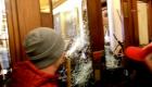 Momento de un disparo dentro del Capitolio