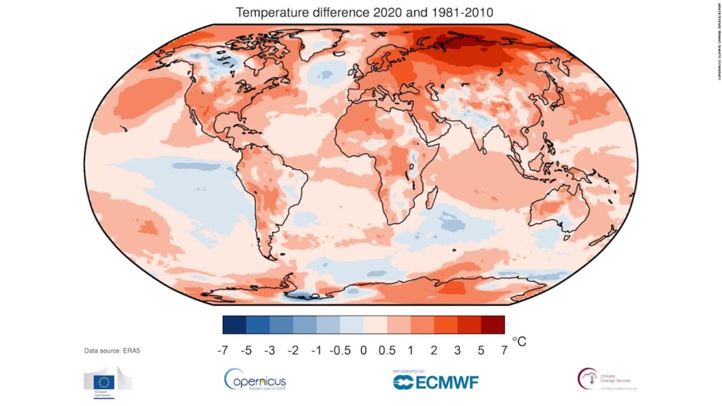2020 y 2016, los años más calurosos del planeta