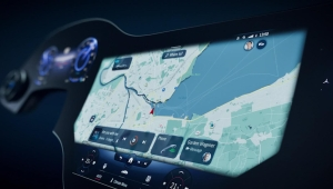 Vea la novedosa pantalla táctil de Mercedes-Benz