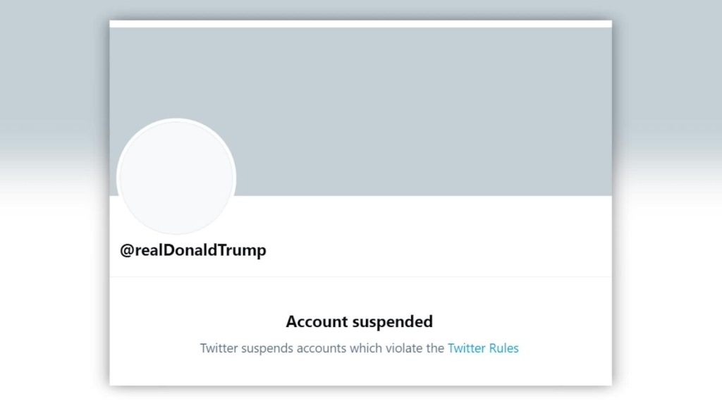 Twitter suspende la cuenta de Donald Trump