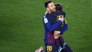 Así celebraron los hijos de Messi su golazo