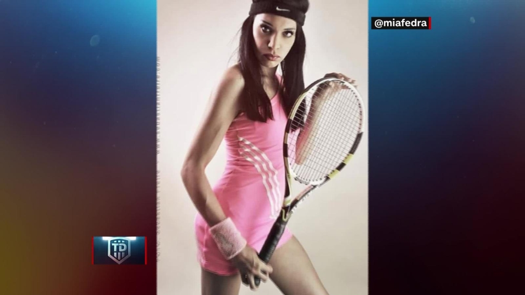 Mía Fedra, pionera en el tenis en Argentina