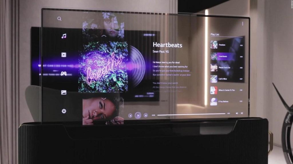Mira el nuevo televisor con pantalla transparente de LG