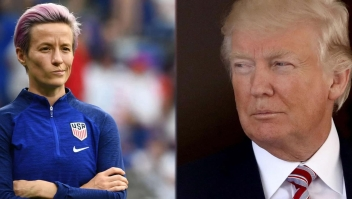 Megan Rapinoe arremete contra Trump