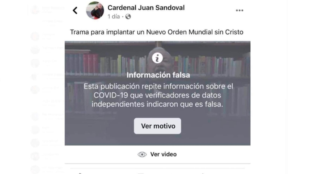 Facebook tilda de información falsa video de cardenal mexicano