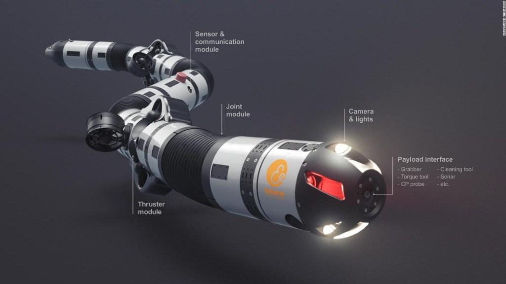 Este robot puede arreglar tuberías bajo el mar