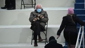 Furor por los guantes de Bernie Sanders