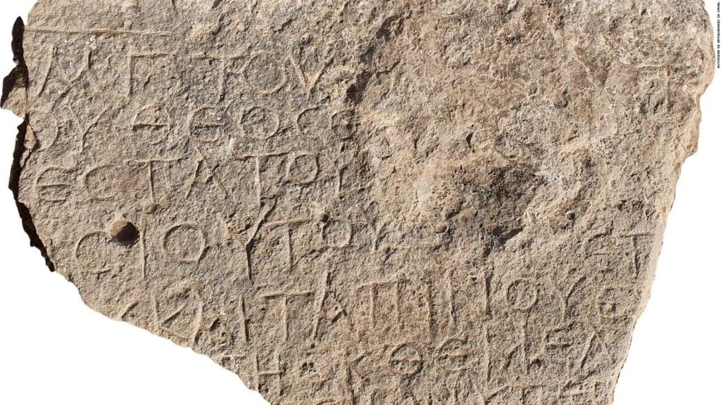 Hallan mensaje escrito hace 1.500 años en una piedra
