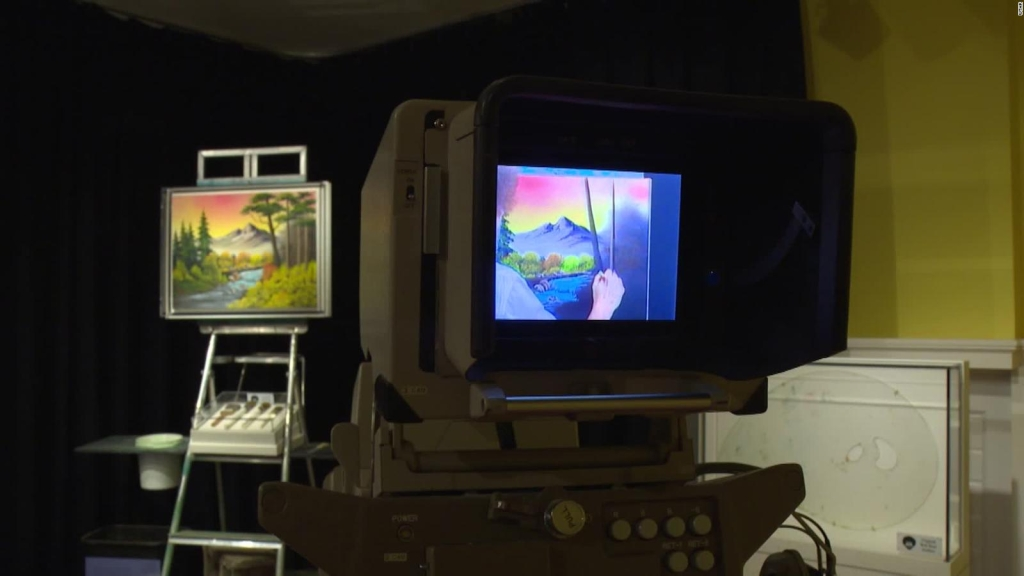 Exposición interactiva inspirada en el pintor Bob Ross