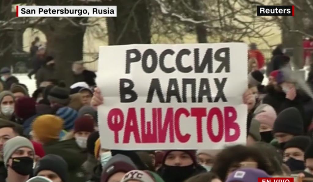Siguen las protestas en Rusia por arresto de Navalny