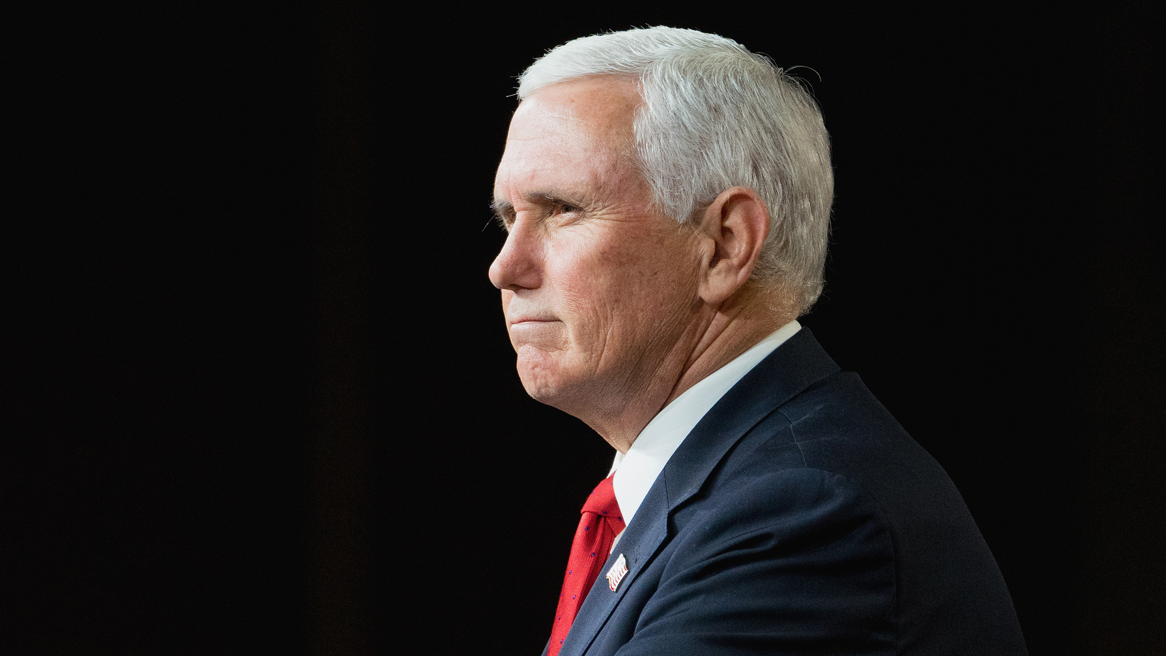 MILNER, GA - JANUARY 04: U.S. Vice President Mike Pence speaks during a visit to Rock Springs Church to campaign for GOP Senate candidates on January 4, 2021 in Milner, Georgia. Tomorrow is the final day for Georgia voters to vote for U.S. Senators Republican incumbents David Perdue and Kelly Loeffler or Democratic Candidates John Ossoff and Raphael Warnock. (Photo by Megan Varner/Getty Images)