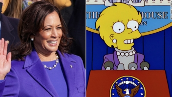 Los Simpson toma de posesión Kamala Harris