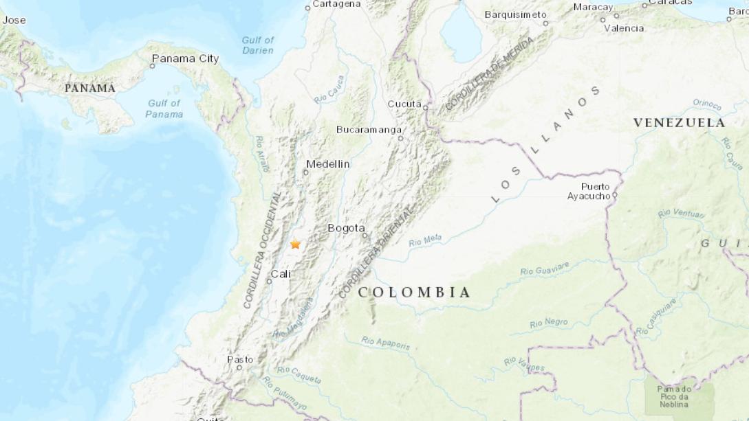 Un sismo de 4,9 sacude Colombia durante la madrugada