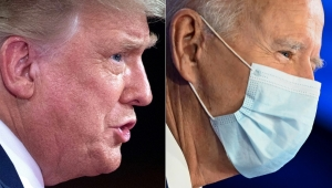 coronavirus trump biden mascara side by side getty