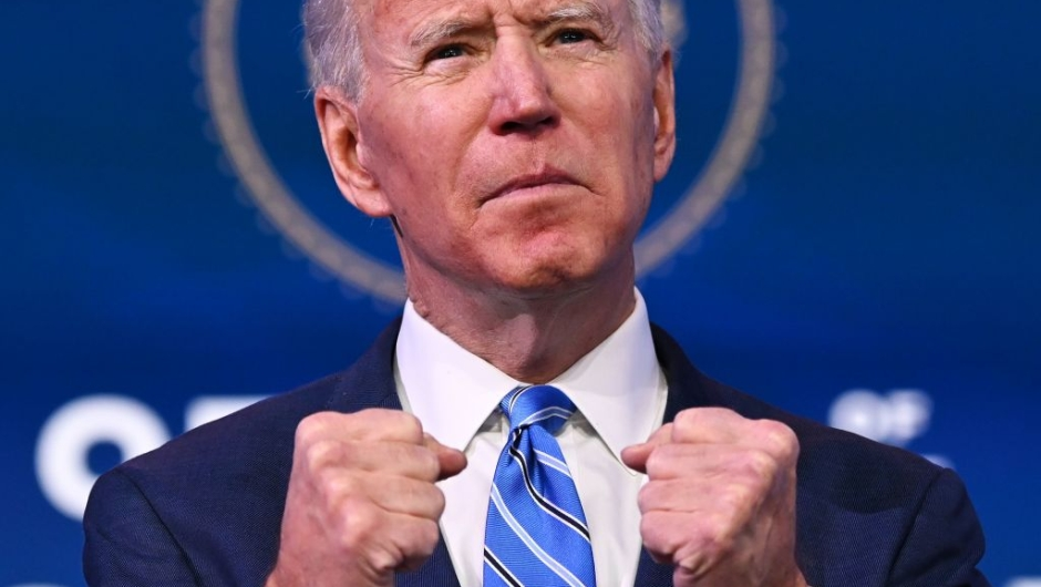 TOPSHOT - US President-elect Joe Biden delivers remarks on the public health and economic crises at The Queen theater in Wilmington, Delaware on January 14, 2021. - President-elect Joe Biden will propose injecting $1.9 trillion into the US economy when he takes office next week, as evidence mounts that the recovery from the sharp downturn caused by Covid-19 is flagging. (Photo by JIM WATSON / AFP) (Photo by JIM WATSON/AFP via Getty Images)