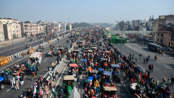 Campesinos protestan en la India