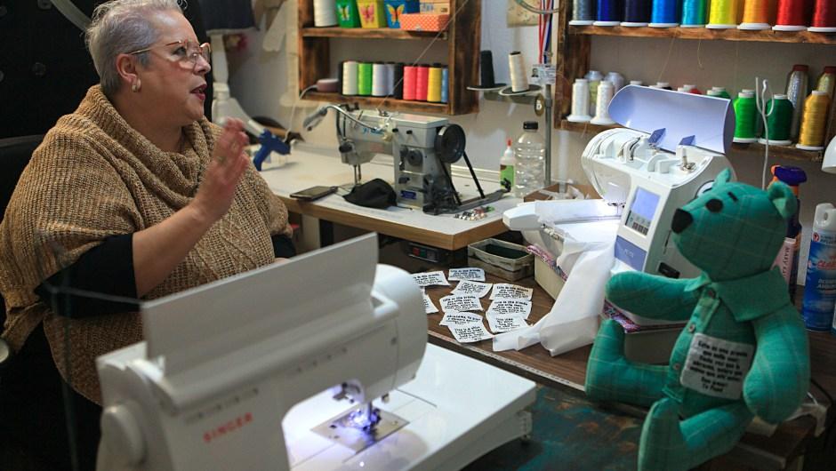Eréndira Guerrero dans son atelier à Ciudad Juárez, Mexique