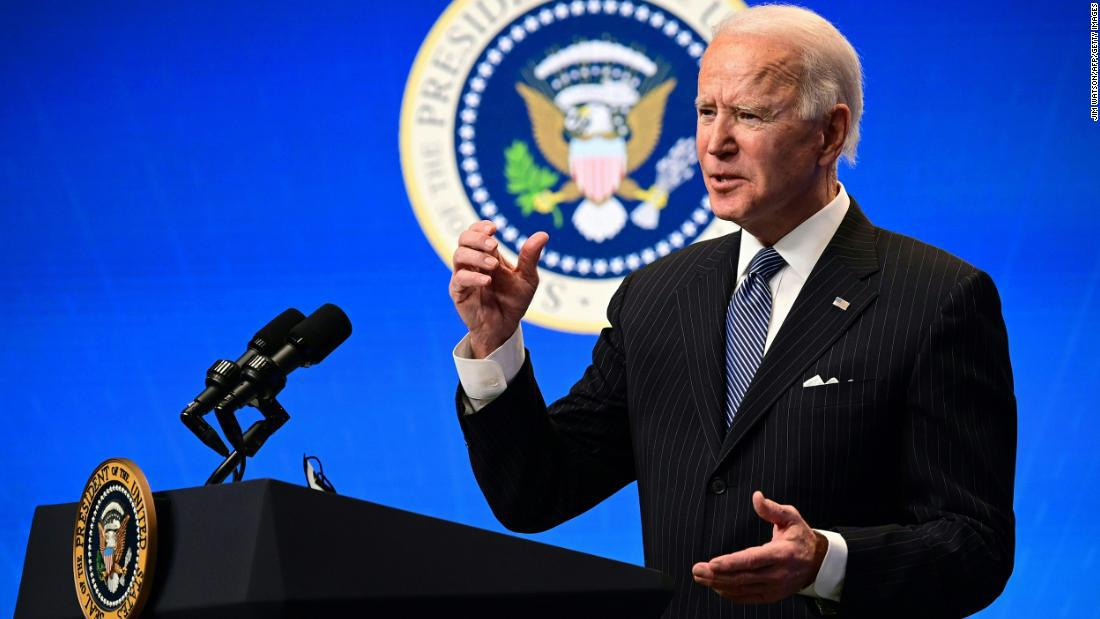 Biden says they will vaccinate 1.5 million people in the US every day