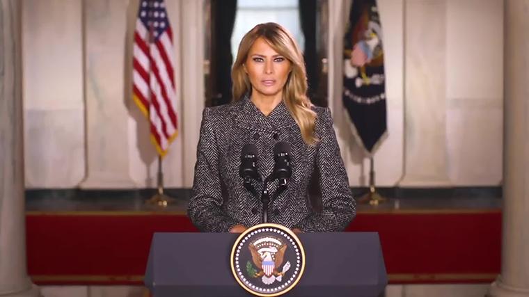 ¿De qué habló Melania Trump en su mensaje de despedida?
