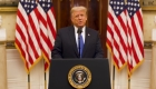 Trump le desea suerte a Biden en video de despedida