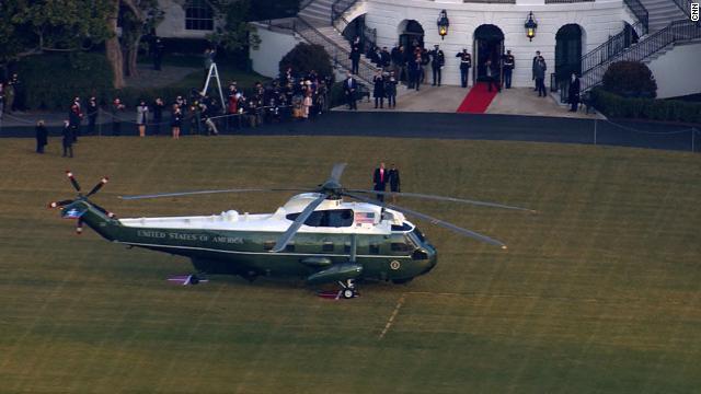 Trump y Melania dejan la Casa Blanca
