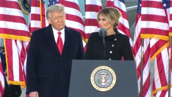 Melania Trump: Gracias por su amor