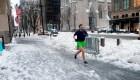 Una mañana en Nueva York con una tormenta de nieve