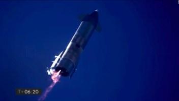 Así explotó un cohete de prueba de SpaceX