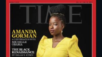 Amanda Gorman es portada de la revista Time