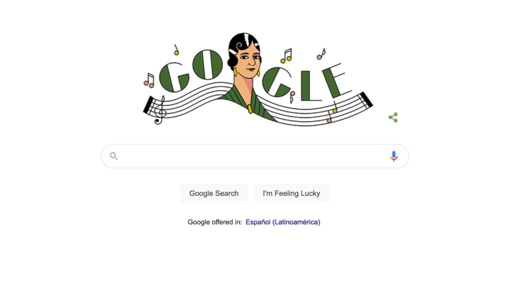 Es tendencia: el doodle en homenaje a María Grever