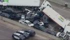 Impresionantes imágenes de apilamiento masivo en Texas