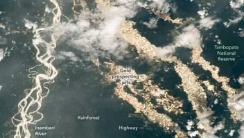 """Los """"ríos de oro"""" de Perú vistos desde el espacio"""