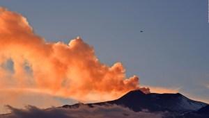 Así fue la erupción del Etna en Italia