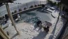 Se lanzó al agua helada para salvar a su perra