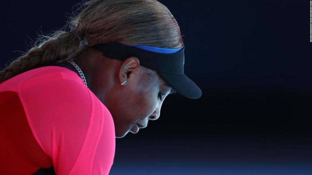 El llanto de Serena Williams ante una nueva decepción