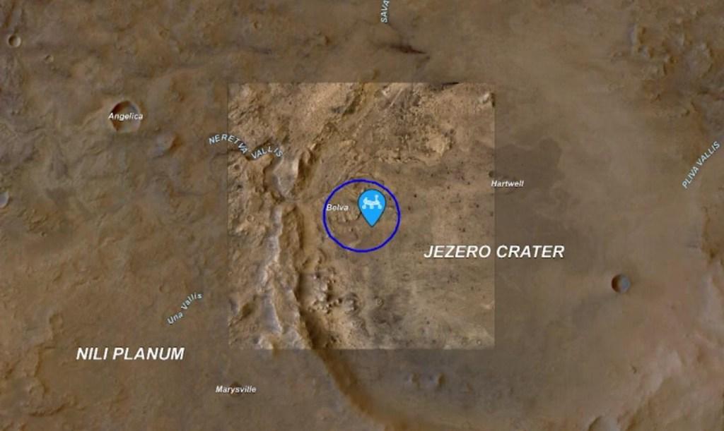 Sigue el trayecto del rover Perseverance en Marte