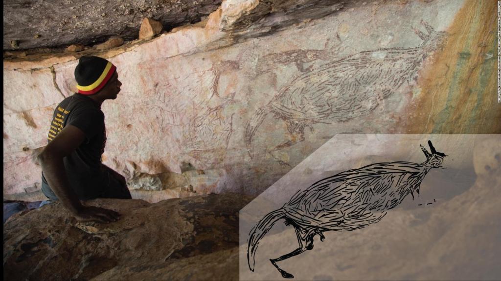 Dibujo de canguro es el arte más antiguo de Australia