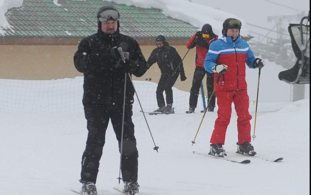 Putin y Lukashenko esquiaron en Rusia