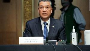 Senador Alex Padilla: Apoyen nominación de Xavier Becerra