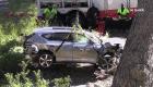 Peligros en el sitio del accidente de auto de Tiger Woods