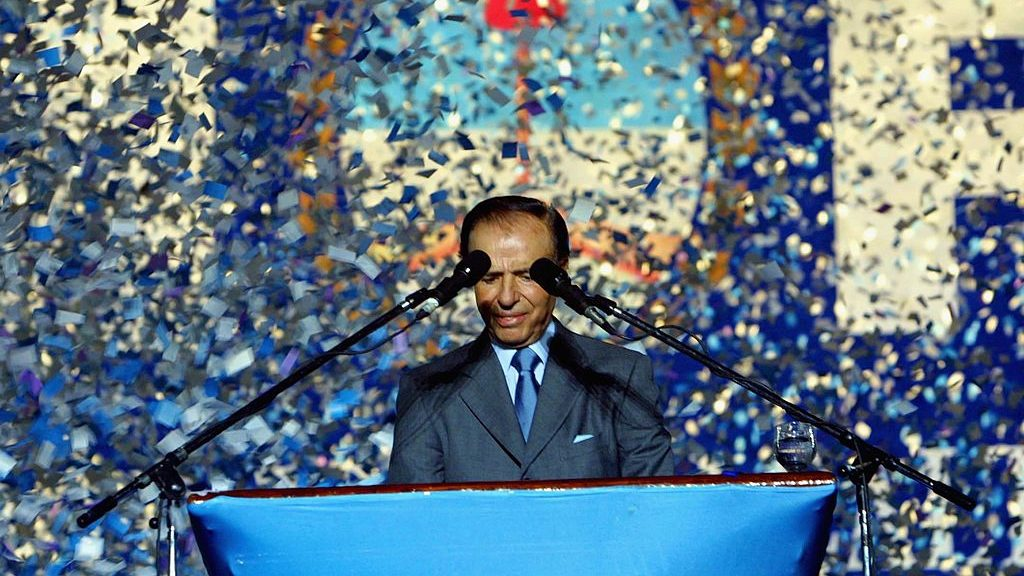 Three days of National Mourning for the Death of former president Carlos Menem
