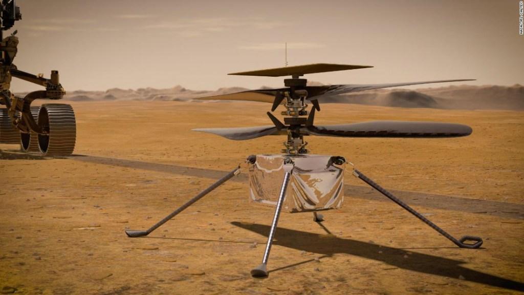 Helicóptero Ingenuity Marte rover Perseverance