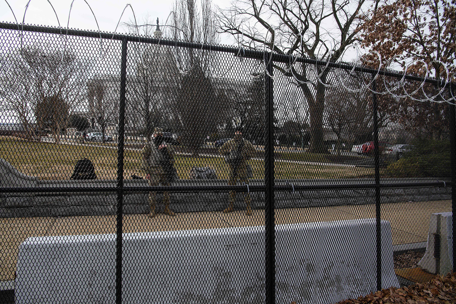 Members of the National Guard stand by the US Capitol in Washington, DC, on February 9, 2021 before the start of former US president Donald Trump's second Senate impeachment trial. - The US Senate gavels in Tuesday on Donald Trump's historic second impeachment trial, with his defense team decrying it as a