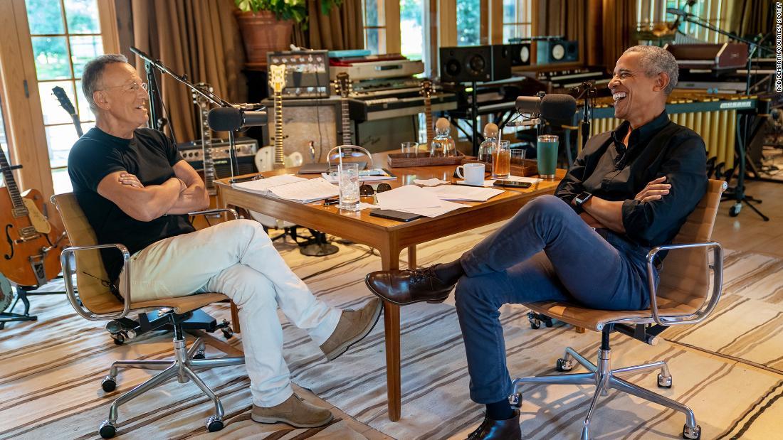 Obama y Springsteen hacen equipo en un podcast de Spotify